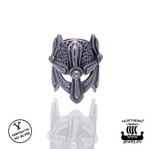 "Northern Viking Jewelry®-Partakoru ""Silver Viking Helmet"""