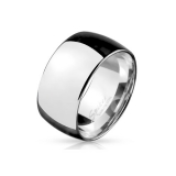 "Miesten Terässormus ""10 mm Wide Dome Stainless Steel Band Ring"""