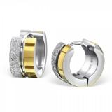 """Kirurginteräs korvakoru """"Sandblast Gold Huggie Earrings"""""""