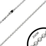 2,4 mm Stainless Steel Military Ball Link Chain
