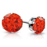 """Kirurginteräs korvakorut """"8 mm CZ Red Round Circle Stud Earrings"""""""