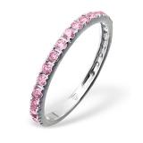 """Hopeasormus Zirkoneilla """"Silver Pink Sprinkled Ring"""""""