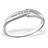 """Hopeasormus Zirkoneilla """"Silver Classic Ring with Cubic Zirconia"""""""