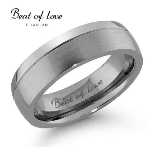 Beat of Love titaanisormus 6 mm (TI-069-6mm)