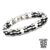 "Heavy Steel Jewelry-Ranneketju ""Motorcycle Chain Steel/Black"""