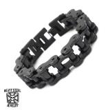 """Heavy Steel Jewelry-Ranneketju """"Motorcycle Chain Blacksteel"""""""
