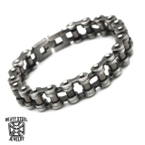"Heavy Steel Jewelry-Ranneketju ""Motorcycle Chain Gunmetal"""