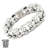 """Heavy Steel Jewelry-Ranneketju """"Motorcycle Chain Steel 17 mm"""""""