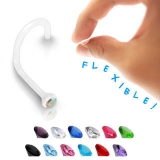 BioFlex Nose Screw with Assorted Bezel Set Gems
