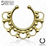 Kirurginteräsl Fake Septum Hanger Beaded
