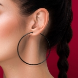 """Teräskorvakorut """"Blacksteel Hoop Earrings"""", useita eri kokoja"""
