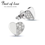 Beat of Love sydän hopeakorvakorut (BOL-E0158Z)