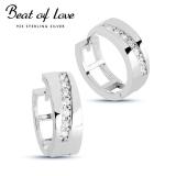 Beat of Love hopeakorvakorut zirkoneilla (BOL-E0423Z )