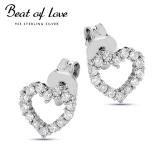 Beat of Love sydän hopeakorvakorut (BOL-E0983Z)