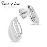Beat of Love hopeakorvakorut zirkoneilla (BOL-E1808Z)