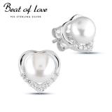 Beat of Love helmi sydän hopeakorvakorut (BOL-E1910ZP)