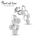 Beat of Love hopeakorvakorut zirkoneilla (BOL-E2387Z)