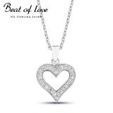 Beat of Love hopeakaulakoru sydän zirkoneilla (BOL-N0015Z/40-45cm)