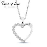 Beat of Love hopeakaulakoru sydän zirkoneilla (BOL-N0278Z/40-45cm)