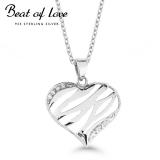 Beat of Love sydänkaulakoru zirkoneilla (BOL-N0726Z-40-45cm)