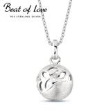 Beat of Love hopeakaulakoru pallo zirkoneilla (BOL-N2178Z/40-45cm)