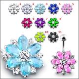 "Napakoru ""Fantasy Jeweled Flower Belly Ring"""