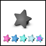 Flat 4mm Star Dermal Top 316L Surgical Steel Internally Threaded