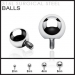 Ball for Internally Threaded Dermal Anchors 316L Surgical Steel