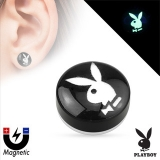 "Kirurginteräs Fake Plug ""Playboy Bunny Logo Non Piercing Magnetic Plug"""