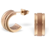 "Kirurginteräs korvakoru ""Rosegold Half Hoop Earrings"""