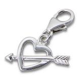 "Hopeinen keräilykoru ""Silver Arrow Heart Charm With Lobster"""