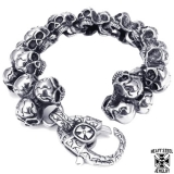 "Heavy Steel Jewelry-Ranneketju ""Solid 27 Skull"""