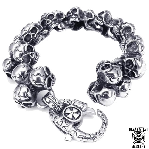"Heavy Steel Jewelry-Ranneketju ""Solid 27 Skull"""
