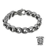 """Heavy Steel Jewelry-Ranneketju """"Skull Chain Bracelet"""""""
