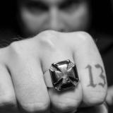 """Heavy Steel Jewelry-Sormus """"Iron Cross Ring For Biker"""""""