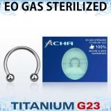 "Sterile Titanium Grade 23 ""Hevosenkenkä"" 1,2 mm"