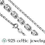 "Hopeinen Kelttikoru Hopeaketjulla ""Opal Celtic Trinity Knot"""