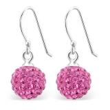"""Hopeakorvakorut Kristalli """"Pink"""""""