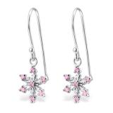 """Hopeiset Korvakorut """"Pink Silver Snowflake Earrings"""""""