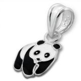 "Hopeinen Lasten Riipus ""Children's Silver Panda Pendant with Epoxy"""