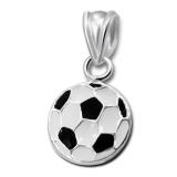 "Hopeinen Lasten Riipus ""Children's Silver Football Pendant with Epoxy"""