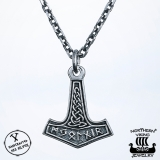 Northern Viking Jewelry® 925-Hopea Futhark Riimu Thorin Vasara