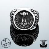 925-Hopea Thorin Vasara-Sormus, Northern Viking Jewelry