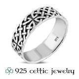 "Miesten Kelttisormus ""Celtic Cross Silver Ring"""