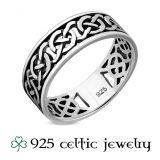 """Miesten Kelttisormus """"Celtic Cut Silver Ring"""""""
