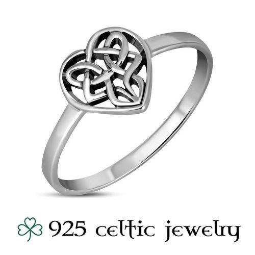 """Hopeinen Kelttisormus """"Celtic Knot Heart"""""""