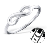 "Hopeinen Midi-Sormus ""Silver Infinity Midi Ring"""