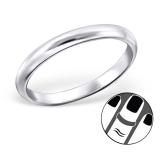 """Hopeinen Midi-Sormus """"Silver Plain Round Midi Ring"""""""