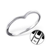 "Hopeinen Midi-Sormus ""Silver Heart Midi Ring"""