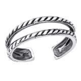 """Hopeinen Säädettävä Varvassormus """"Silver Oxidized Toe Ring"""""""